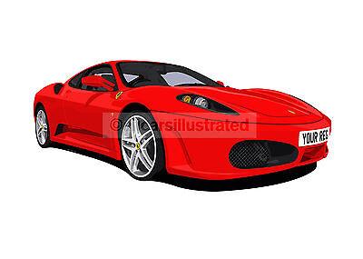 WALL DECOR ART PRINT KIDS POSTER FERRARI CARS 1 POPULAR GIFT A3 SIZE