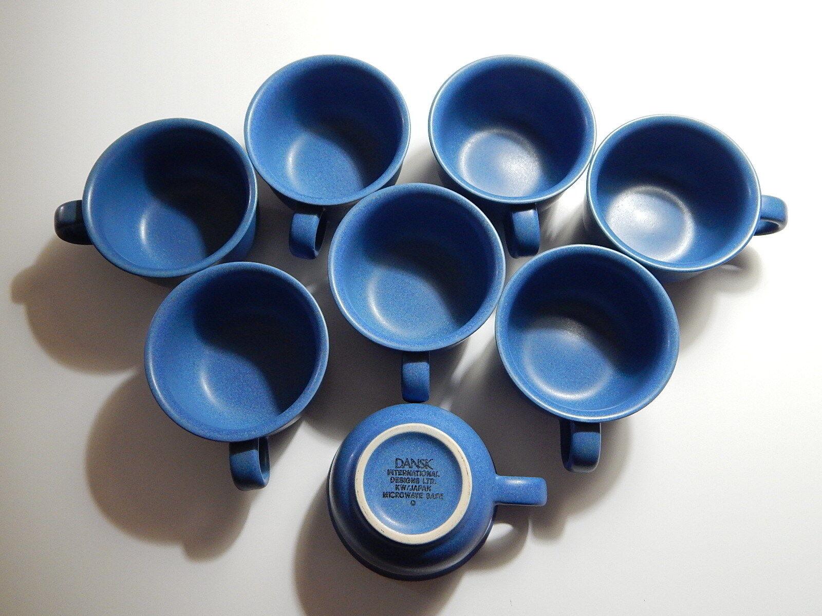 (8) Dansk bluee 8 oz Cups International Designs KW Japan