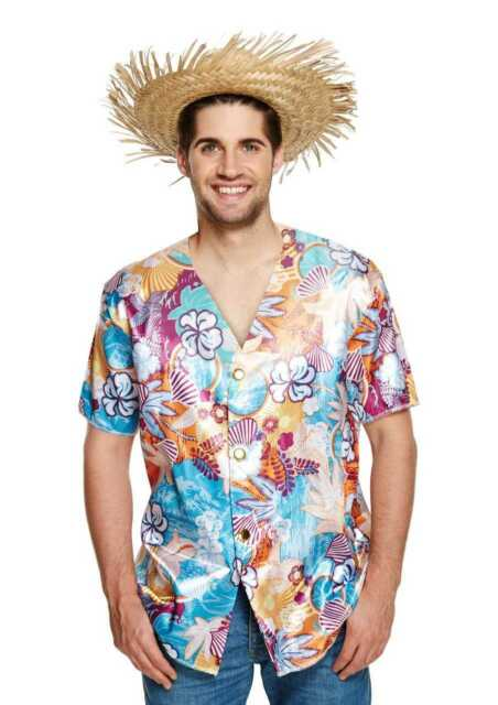 6b338c87b Mens Hawaiian Shirt Stag Beach Aloha Party Top Colourful Floral Fancy Dress  386