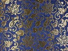 Tex ex 1147 Fontainebleau Azul Cortina Decoración Luz Tela De Tapicería Damasco
