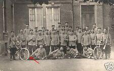 15642/ Originalfoto 9x13cm, Soldaten mit Fahrräder und Bajonett, 11.9.1914