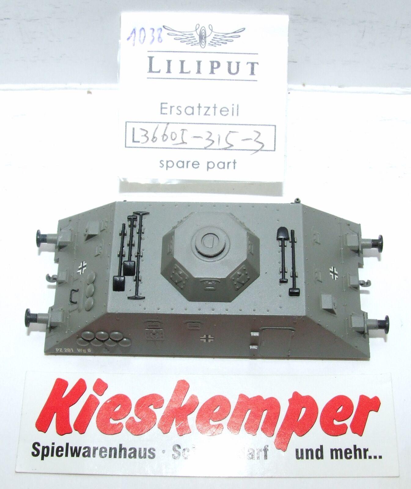 Lo1038 LILIPUT LILIPUT LILIPUT H0L 366053153 CARCASA GRIS pz 201 wg6 Pieza Repuesto Para Panzer  entrega de rayos