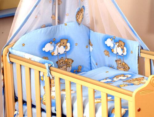 ou Cotbed 140x70cm taille de matelas 5,7,8,9 pcs ensemble de literie pour lit bébé 120x60 4 Pcs