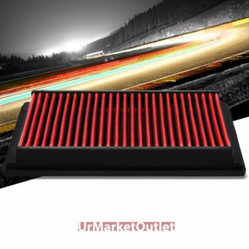 Reusable Red Cotton High Flow Drop-In Panel Air Filter For BMW 01-06 330Ci 3.0L