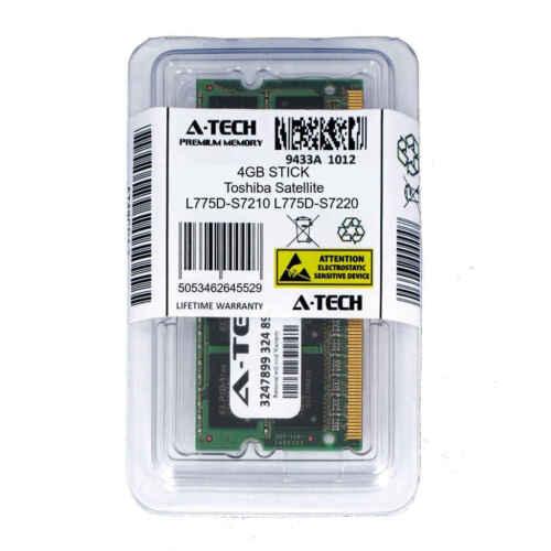 4GB SODIMM Toshiba Satellite L775D-S7210 L775D-S7220 L775D-S7220GR Ram Memory