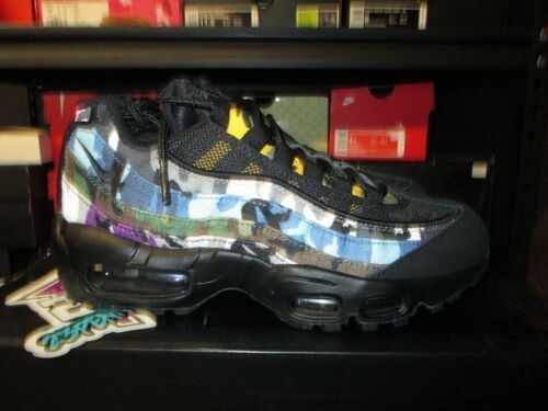 NIKE AIR MAX 95 ERDL PARTY BLACK MULTICOLOR CAMO AR4473 001 NEW SIZE 4 2018