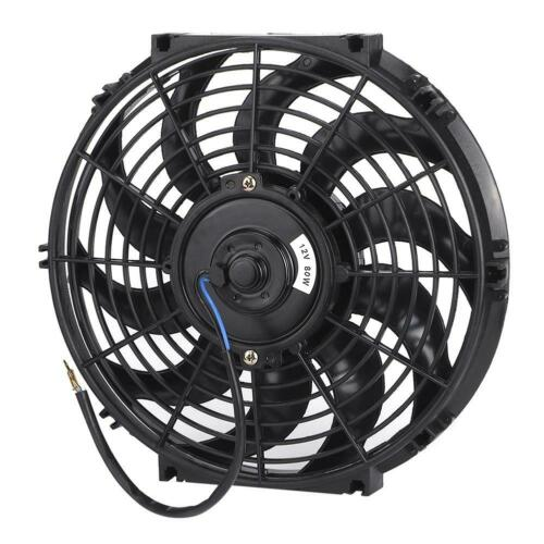 12in Universal Slim Radiator Cooling Fan Thermo 12V with Mounting Kit