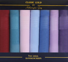 7 PACK MENS ASSORTED COLOURED HANDKERCHIEFS -FATHERS DAY GIFT
