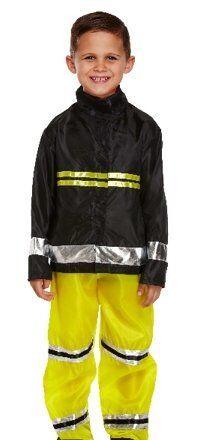 Fireman Costume Dress Up Boys Age 4 5 6
