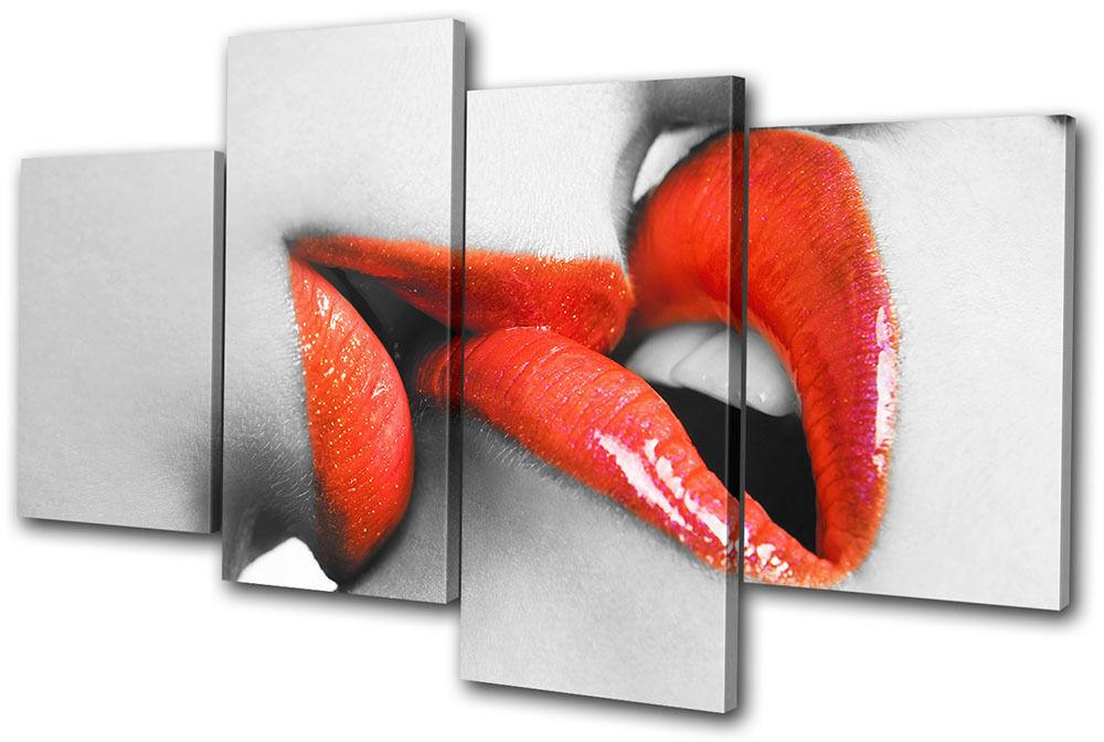 Erotic Lesbian Kiss MULTI LONA LONA LONA pa rojo  arte Foto impresion 154d15