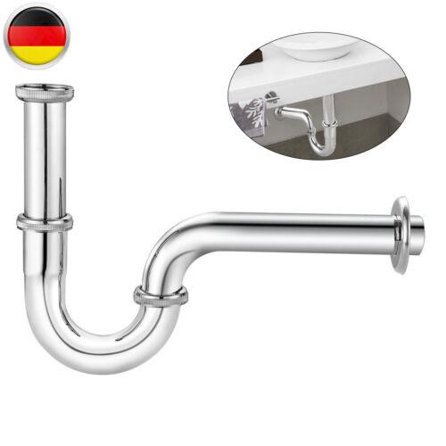"""Sifon Siphon Für Waschbecken,Röhrensiphon Röhrensifon Verchromt 1//4/"""" 32mm Syphon"""