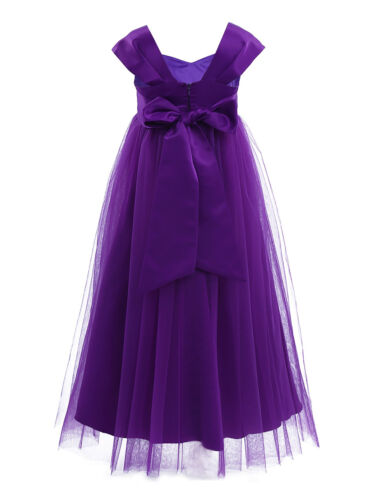 US Flower Girl Dress Party Wedding Pageant Bridesmaid Birthday Gown Prom Dresses