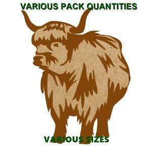 Highland-Cow-Keyring-Gift-Tag-ToyBox-MDF-blank-Tanging-Hole-Y-N-COWW009