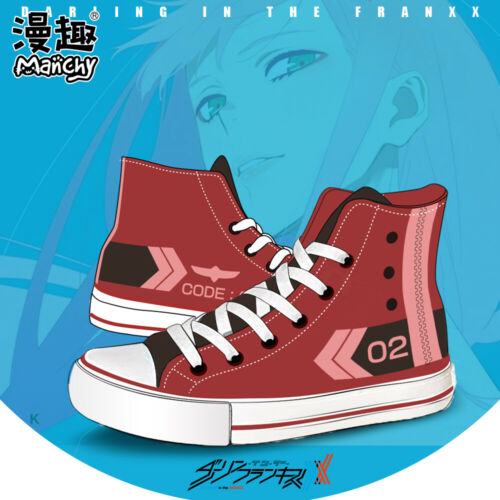 Anime darling in the franxx Cosplay Canvas Casual Sneakers High Shoes Unisex