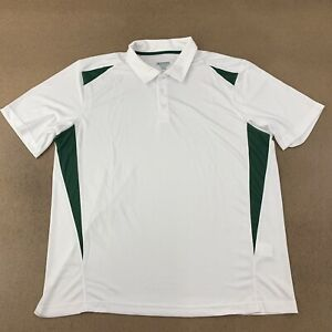 Augusta-Sportswear-Men-039-s-Size-XL-White-Green-Two-Tone-Premier-Sport-Shirt-5012