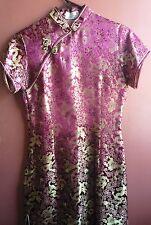 Vintage Golden Dragon Cheongsam Chinese dress