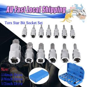 13-pc-Torx-key-Star-Bit-Set-Tamper-Proof-Bit-Socket-Set-1-4-034-Drive-With-Hole-fh