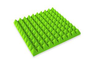 Pyramiden-Akustikplatte-Schaumstoff-Akustikschaumstoff-50x50x5-Schalldaemung-gruen