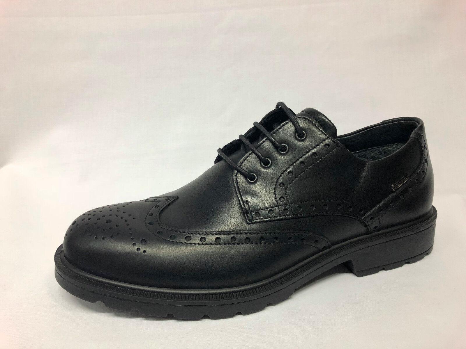 shoes stringate Igi&co pelle nera Gore-Tex Made in  listino 99,90 - 20%
