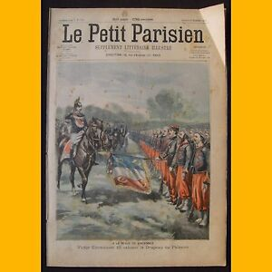 PETIT-PARISIEN-Supplement-litteraire-illustre-Drapeau-Palestro-8-novembre-1903