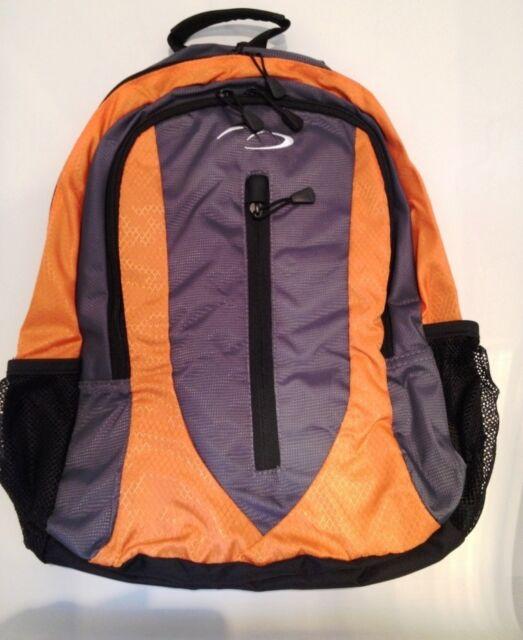 Orange Rucksack Backpack Men Women Boys Girls School Work University Bag