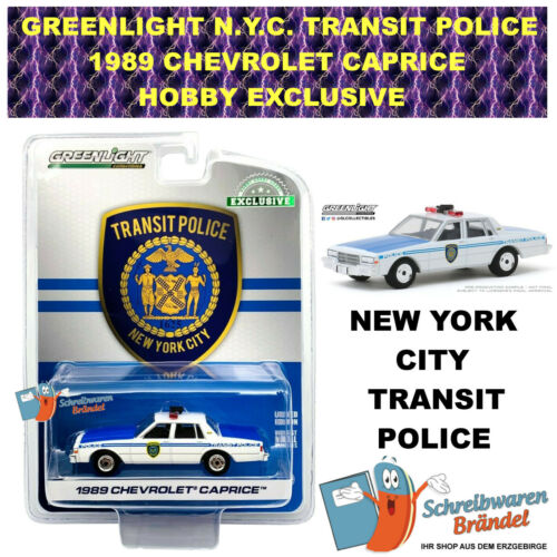 GREENLIGHT 1989 CHEVROLET CAPRICE NEW YORK CITY TRANSIT POLICE 1:64 NEU 30100
