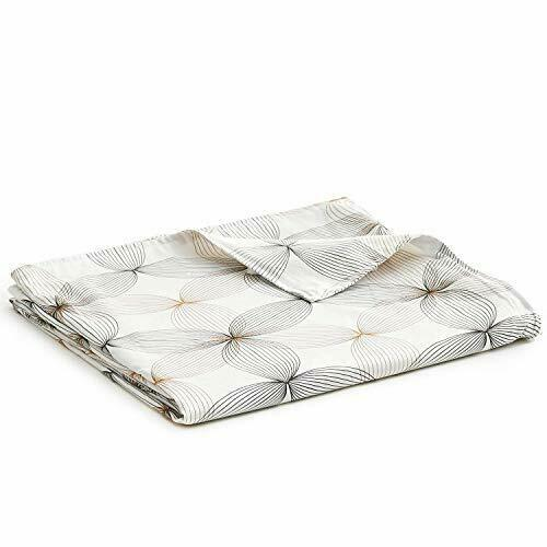 ZonLi 60x80 Grey Cotton Duvet Cover Queen Size Removable Duvet Cover for Weighted Blanket