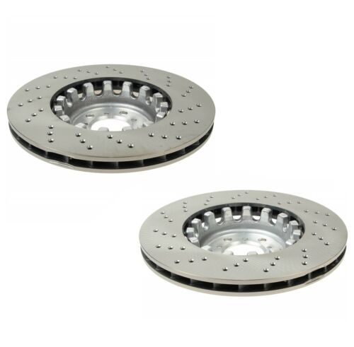 Pair Set of 2 Genuine Front Drilled Brake Disc Rotors For BMW F80 F82 F83 M3 M4