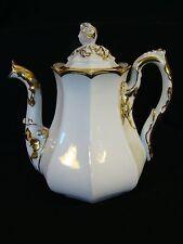 Antique Limoges Porcelain Signed Rees Louis Philippe Tea Coffee Pot 1830-1850
