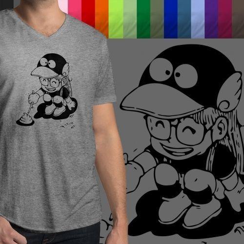 Slump Arale Norimaki Poking Poop Ultra Soft Tee Mens//Unisex V-Neck T-Shirt Dr
