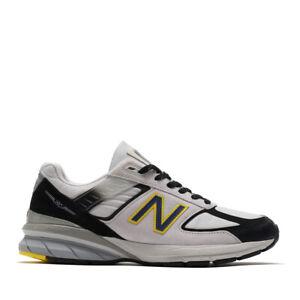 recluta Informar pubertad  New Balance Men's 990v5 Made in USA Running Shoes Silver/Black/Yellow  M990SB5 d | eBay