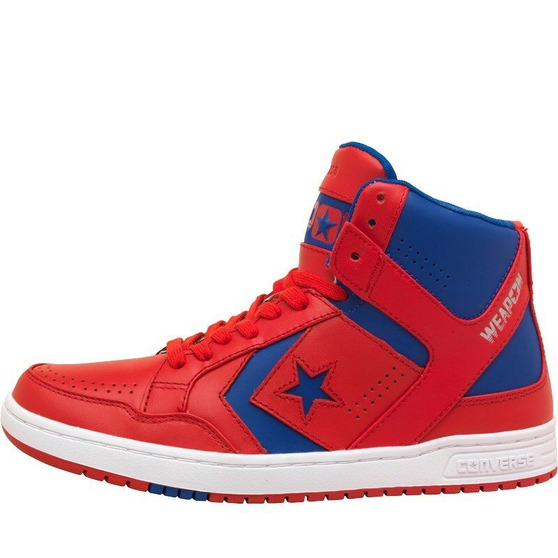NEW Converse Mens LEATHER Cons Weapons Mid Red bluee White 7 UK   41 EU