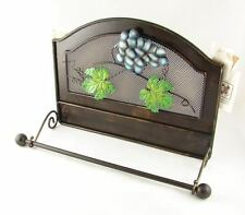 NEW WALL MOUNT WINERY METAL PAPER TOWEL ROLL HOLDER BAR