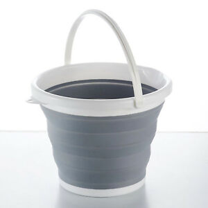 SILICON-PLASTIC-FOLDING-COLLAPSIBLE-BUCKET-KITCHEN-CAMPING-GARDEN-WATER-CARRIER