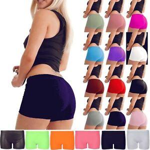 New Ladies Women Slim Fit Stretch Hot Pants Sports Gym Mini Dance ... be143389fe2