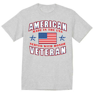 a697af58f9 big and tall t-shirt for men American veteran Korean Vietnam Iraq ...