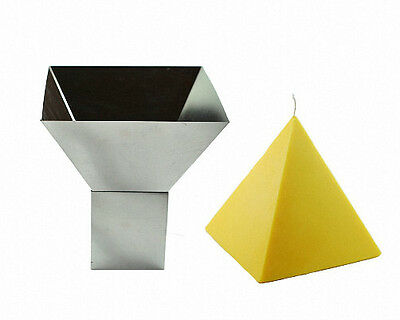 """not a candle mold no wick hole 6/"""" x 6/"""" Four Sided Pyramid Mold"""