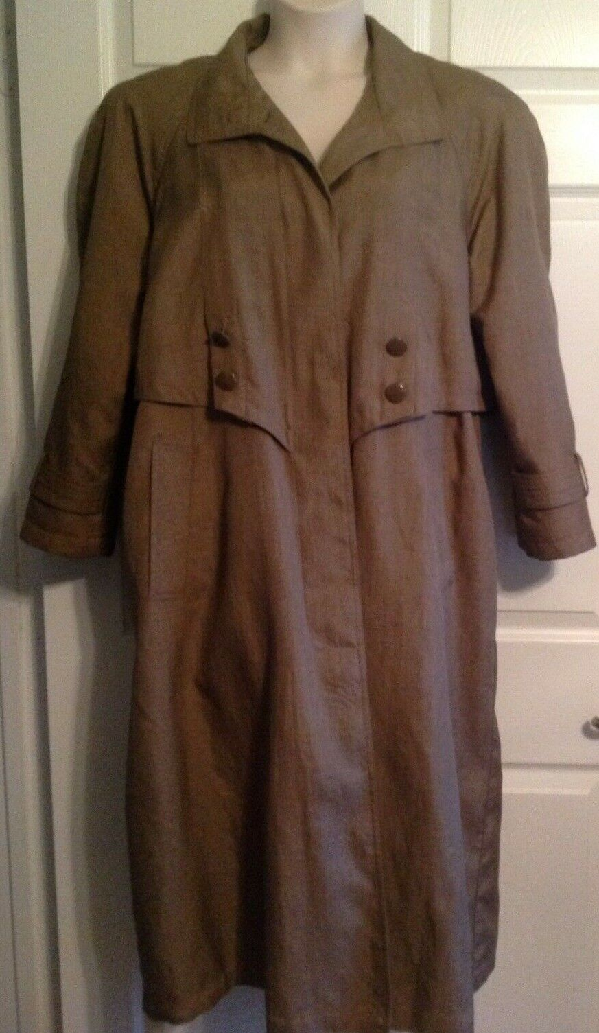 Vintage EAST WEST Trench Coat 12 Zip Out Lining Brown
