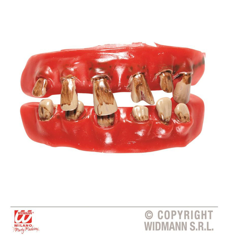 Fake Dentures Old Man Pirate Vampire OAP Medieval Zombie Brush Your Teeth Fake