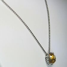 David Yurman Citrine Chatelaine Pendant Necklace 925 Sterling Silver 1