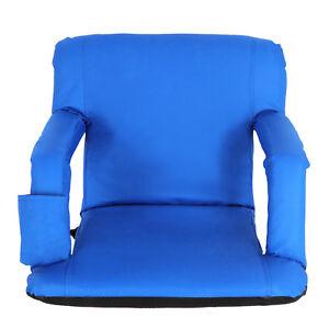 Stadium Seat Blue Reclining Bleacher Chair Folding Perfect