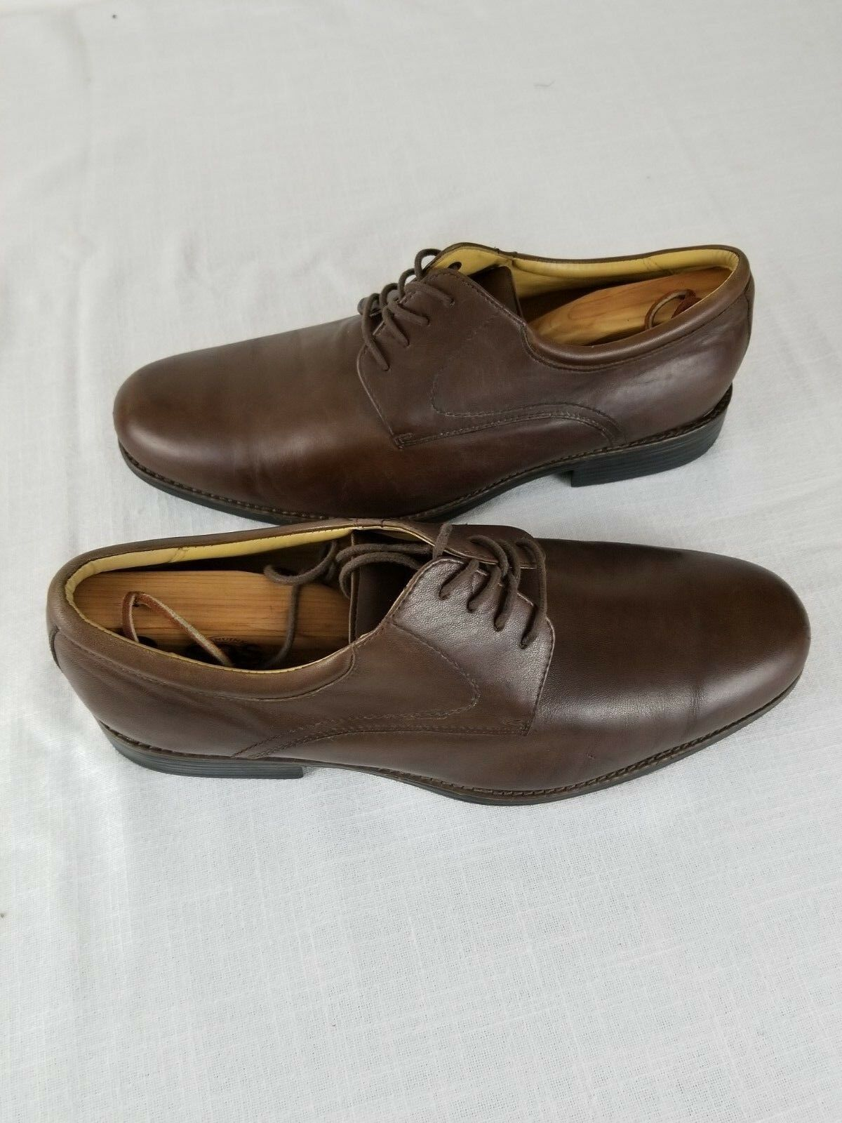 Johnston Murphy Mens Oxfords Leather Brown  20 7426 Sz 11.5 M