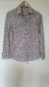 Hawes-amp-Curtis-Semi-Fitted-Unusual-Print-Blouse-Top-Size-10
