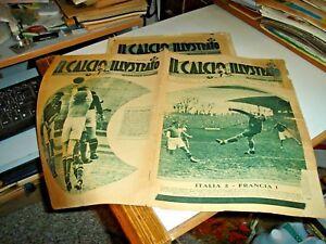 CALCIO-ILLUSTRATO-13-4-1932-ITALIA-FRANCIA-PRIMA-DIVISIONE-U-L-I-C
