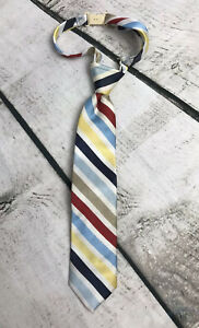 The-Childrens-Place-Boys-Size-24M-3T-4T-Multicolored-Stripe-Tie-Church-Formal