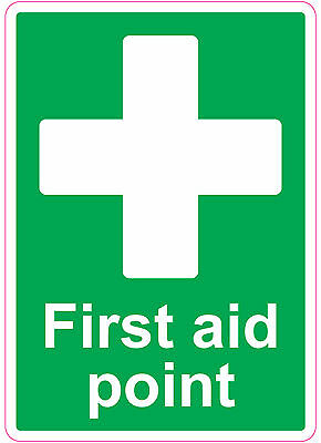 FIRST AID POINT health and safety signs stickers Medical ...
