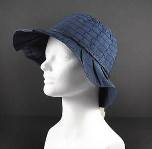 dc22a32c52b Jeanne Simmons Navy Blue Braid String Trim Hat 3