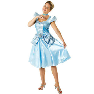 FANCY-DRESS-COSTUME-LADIES-DISNEY-PRINCESS-CINDERELLA-SIZE-8-18