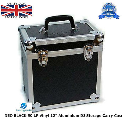 "Musical Instruments & Gear Confident 1 X Neo Aluminium Black Dj Flight Case To Store 50 Vinyl Lp 12"" Records Strong"