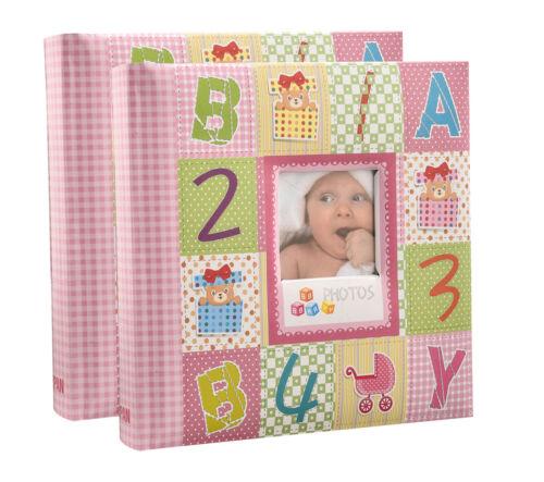 numeric cute memo album x 2 Photo album 6X4/'/' x 200 hold slip in case alpha